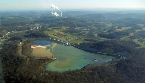 CONSOL Energy's Robinson Run complex in Harrison County, W.Va. Photo by Vivian Stockman, www.ohvec.org. Flyover courtesy SoouthWings.org.