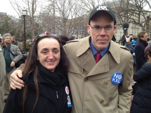 OVEC's Maria Gunnoe and 350.org's Bill McKibben at the F13 rally. Photo by the Sierra Club's Mary Anne Hitt.