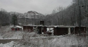 This was one of the last homes in the town of Mud, formerly in Lincoln County, one of many communities driven to extinction my mountaintop removal coal mining. Photo by Vivian Stockman