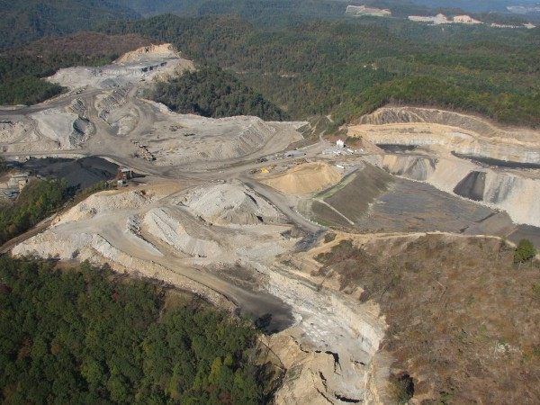 Mountaintop removal in southern West Virginia. Photo taken Oct. 30, 2005.