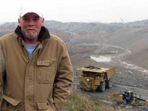Chuck Nelson at the Hobet MTR mine in Boone and Lincoln Counties, WV. Photo by Vivian Stockman