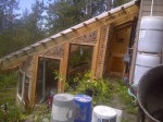 Evidence of Transistion in Alaska: Straw and clay construction greenhouse.