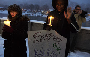 Jan. 21, 2014: Honor the Waters Candlelight Vigil and Rally