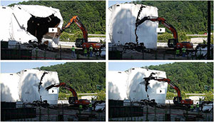 July 17: Videos of Freedom Industries tank farm demolition in progress