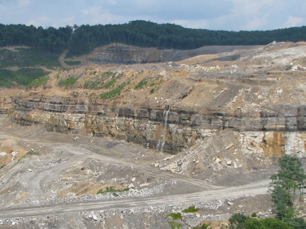 """Hard to see any """"stream protection"""" at a MTR site. Mountaintop removal coal mining operations obliterate streams."""