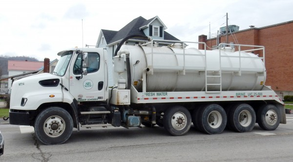 A brine tanker (which sometimes apparently hauls fresh water too?!). Photo by Bill Hughes