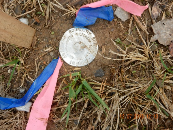 A boundary survey monument indicates permanent property lines, or corners of the surveyed property. This is likely an aluminum cap on top of an one-inch diameter steel bar.