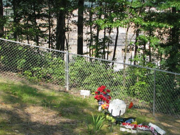 The cemetery at Berry Branch. Look beyond the fence. There used to be forested mountain there.