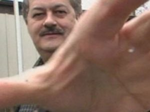 Former Massey Energy CEO Don Blankenship confronts ABC News camera in 2008.