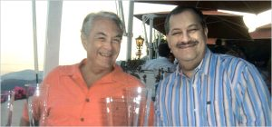 WV Justice Spike Maynard (left) and Blankenship had a good ole time in Monaco while a $50 million case was pending.