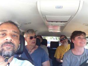 Ferg's selfie in one of the vans on the way to D.C.