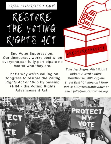 Flier about voting rights act