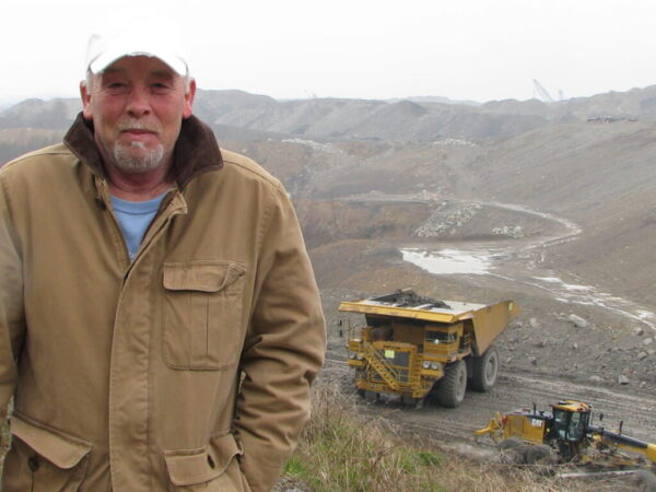 Chuck Nelson at a mountaintop removal site